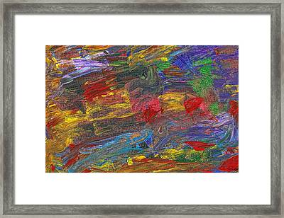 Abstract - Acrylic - Anger Joy Stability Framed Print by Mike Savad