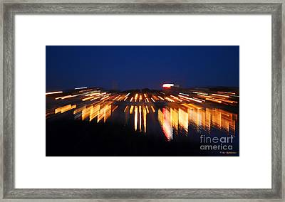 Abstract - City Lights Framed Print by Sue Stefanowicz