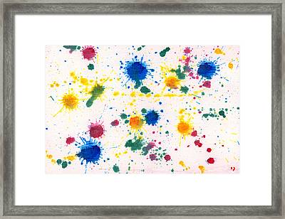 Abstract - Gesso And Food Color - My New Carpet Framed Print by Mike Savad