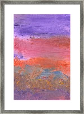 Abstract - Guash - Lovely Meadows 2 Of 2 Framed Print by Mike Savad