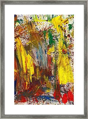 Abstract - Guash - Morning Joy Framed Print by Mike Savad