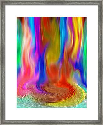 Abstract - Pooling Waterfall Framed Print by Steve Ohlsen