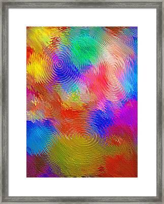 Abstract - Ripples Framed Print by Steve Ohlsen