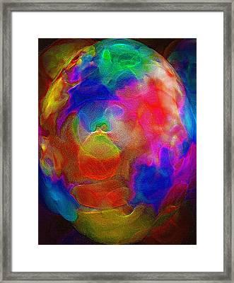Abstract - The Egg Framed Print by Steve Ohlsen