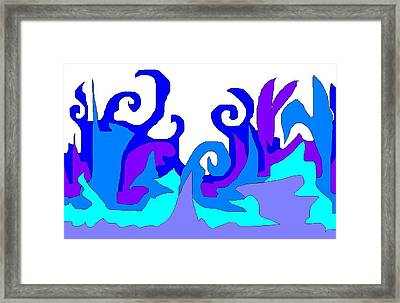 Abstract 11 Landscape Framed Print by Jerry Conner