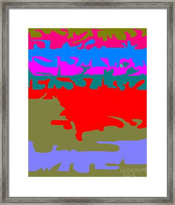 Abstract 31 Framed Print by Jerry Conner