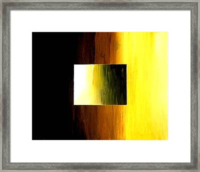 Abstract 3d Golden Square Framed Print by Teo Alfonso