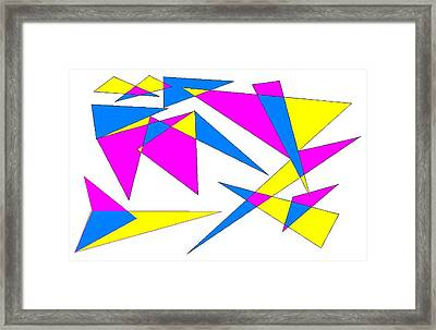 Abstract 9 Framed Print by Jerry Conner
