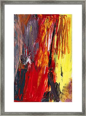 Abstract - Acrylic - Rising Power Framed Print by Mike Savad