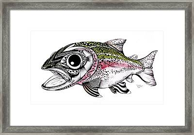 Abstract Alaskan Rainbow Trout Framed Print by J Vincent Scarpace