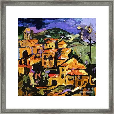 Abstract Amalfi At Night  Framed Print