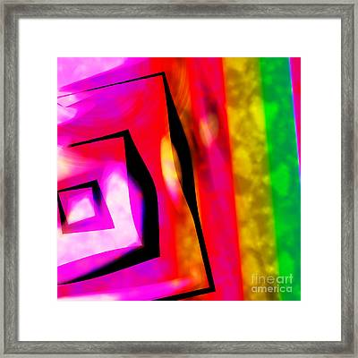 Abstract Angles And Lines Framed Print