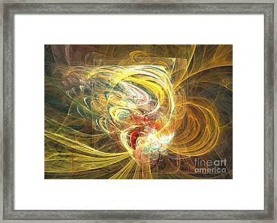 Abstract Art - In Full Bloom Framed Print by Abstract art prints by Sipo