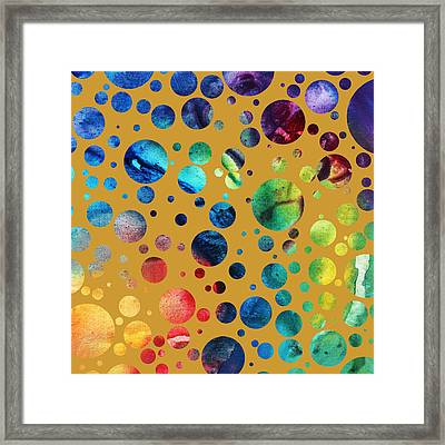 Abstract Art Digital Pixelated Painting Image Of Beauty Of Color By Madart Framed Print by Megan Duncanson