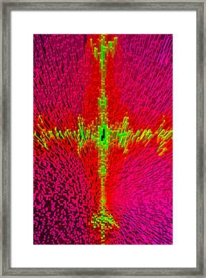 Abstract Art In 3d Framed Print