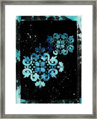 Abstract Art Original Decorative Painting Mysterious By Madart Framed Print by Megan Duncanson