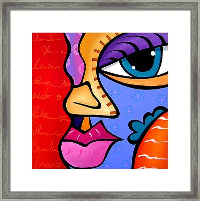 Abstract Art Original Painting The Good Word By Fidostudio Framed Print