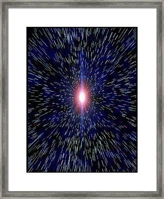 Abstract Artwork Depicting The Big Bang Explosion Framed Print