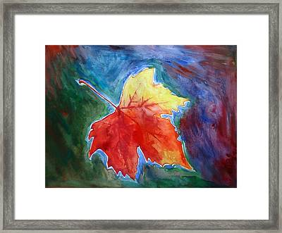Abstract Autumn Framed Print by Shakhenabat Kasana