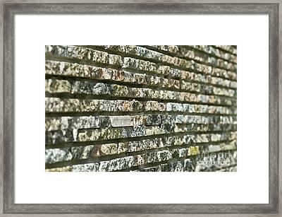 Abstract Background Of Decorative Stone Framed Print by Valerii Kotulskyi