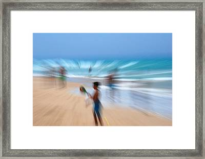 Abstract Beach Framed Print by Perry Van Munster