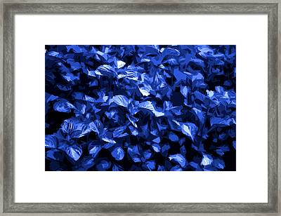 Framed Print featuring the digital art Abstract Blue by Serene Maisey