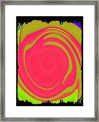 Abstract Color Merge Framed Print
