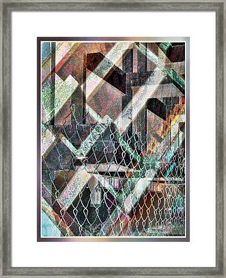 Framed Print featuring the digital art Abstract Concrete by Ginny Schmidt