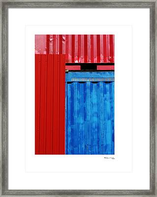 Abstract Construction Framed Print by Xoanxo Cespon