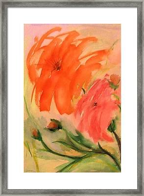 Abstract Dahlia's Framed Print by Alethea McKee