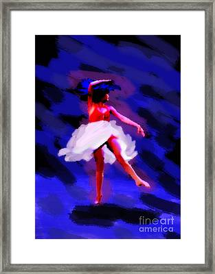 Abstract Dancer Framed Print by Val Armstrong