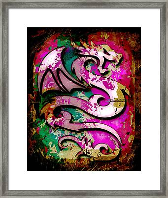 Abstract Dragon Framed Print by David G Paul