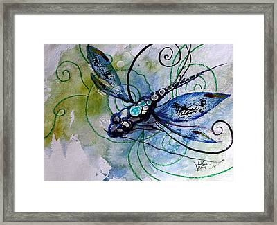 Abstract Dragonfly 10 Framed Print by J Vincent Scarpace