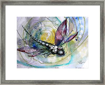 Abstract Dragonfly 11 Framed Print by J Vincent Scarpace