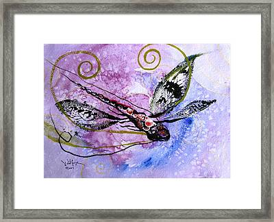 Abstract Dragonfly 6 Framed Print by J Vincent Scarpace