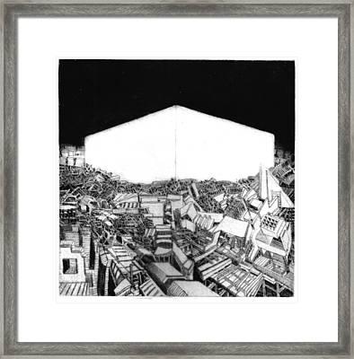 Abstract Europe 2054 Framed Print by Waldemar  Szysz