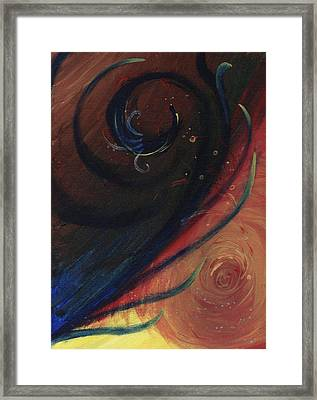Abstract Feather Framed Print by Diane Peters