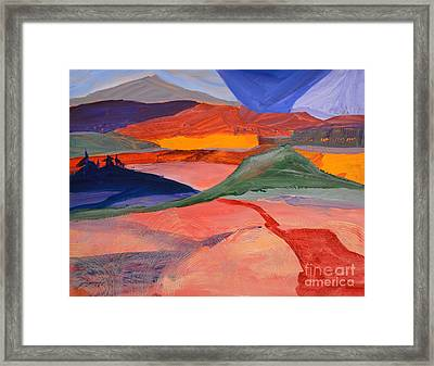 Abstract Fields Framed Print
