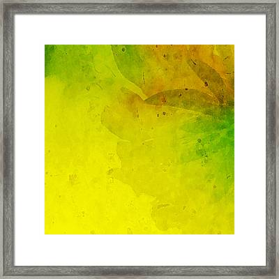 Abstract Floral Framed Print by Bonnie Bruno