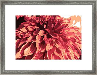Abstract Flower 13 Framed Print by Sumit Mehndiratta
