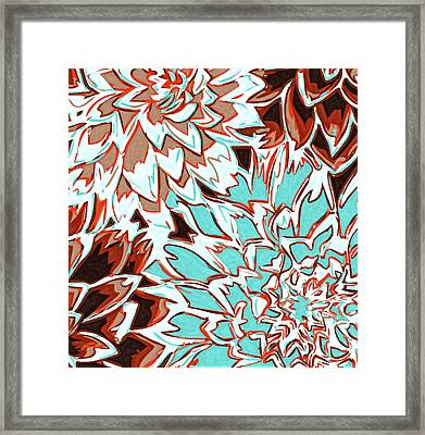 Abstract Flower 17 Framed Print by Sumit Mehndiratta