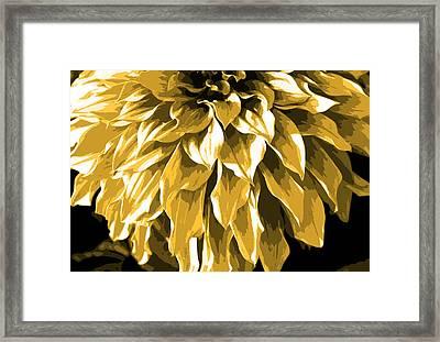 Abstract Flower 4 Framed Print by Sumit Mehndiratta
