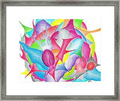 Abstract Flower Framed Print by Jera Sky