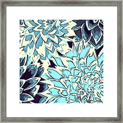 Abstract Flowers 11 Framed Print by Sumit Mehndiratta