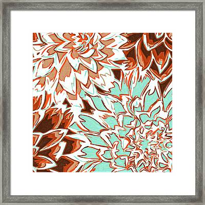 Abstract Flowers 12 Framed Print by Sumit Mehndiratta