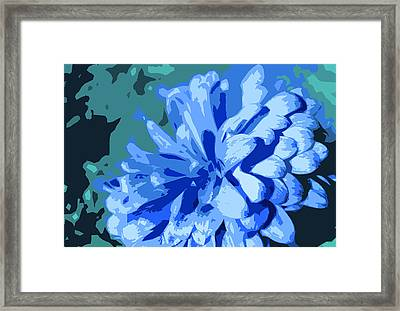 Abstract Flowers 2 Framed Print by Sumit Mehndiratta