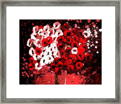 Abstract Flowers By Shawna Erback Framed Print by Shawna Erback