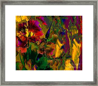 Abstract Flowers Framed Print by Doris Wood