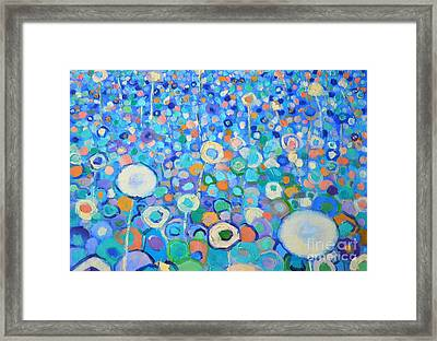 Abstract Flowers Field Framed Print by Ana Maria Edulescu