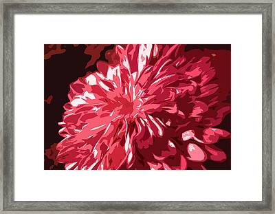 Abstract Flowers Framed Print by Sumit Mehndiratta